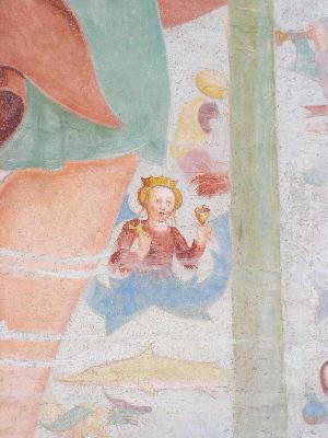 Fresko der  Dorfkirche in Weitental/Südtirol